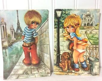 2 Vintage 1960's Postcards