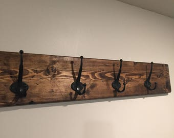 Entryway Shelf, Coat Rack Wall, Rustic Home Decor, Wall Decor