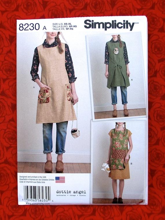 Simplicity Sewing Pattern 8230 Apron Dress Boho Granny Chic