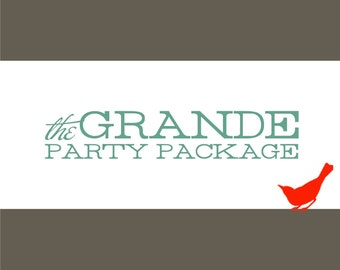 PARTY PACKAGE - The Grande Party Package All-In-One DIY Invitations and Party Favor Bundle - 103041208
