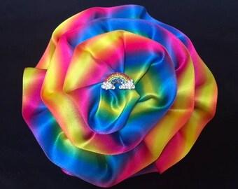 Girl's Rainbow Kippah, Women's Rainbow Yarmulke, LGBT Kippah, Gay Pride Kippah
