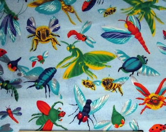 Per Yard, Buzzin By Bugs Fabric