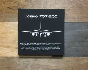 Boeing 757-200 Leather Wall Art