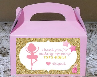 Labels Available  - Ballerina Treat Boxes, Ballerina Candy Bags, SCROLL ---> All PHOTOS for more information