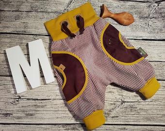Corduroys Boys trousers cord kids trousers pants baby boy girl Pumphose retro mustard brown stripes Nursery