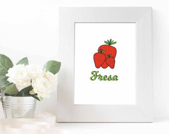 Strawberry Fresa Printable
