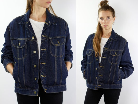 LEE Jacket Lee Denim Jacket Lee Jean Jacket Denim Jacket Lee Jacket Lee Jacket Vintage Denim Jacket Vintage Lee Vintage Jacket Dark Blue