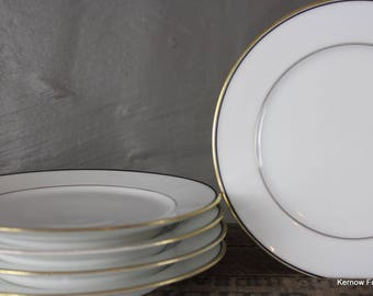 4 Traditional Style White Porcelain Side Plates