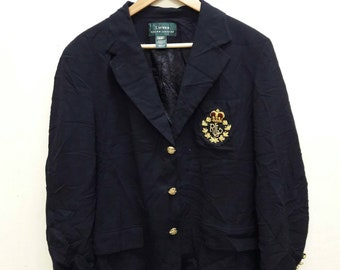 Vintage Ralph Lauren Polo big Crone Coat Blazer Tuxedo