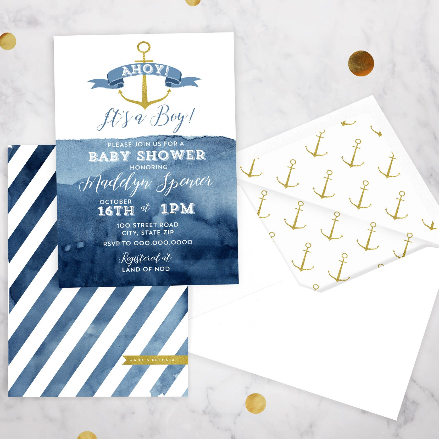 pin nautical invite invitations shower baby boy