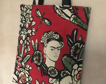 Mexican Art tote bag (red)