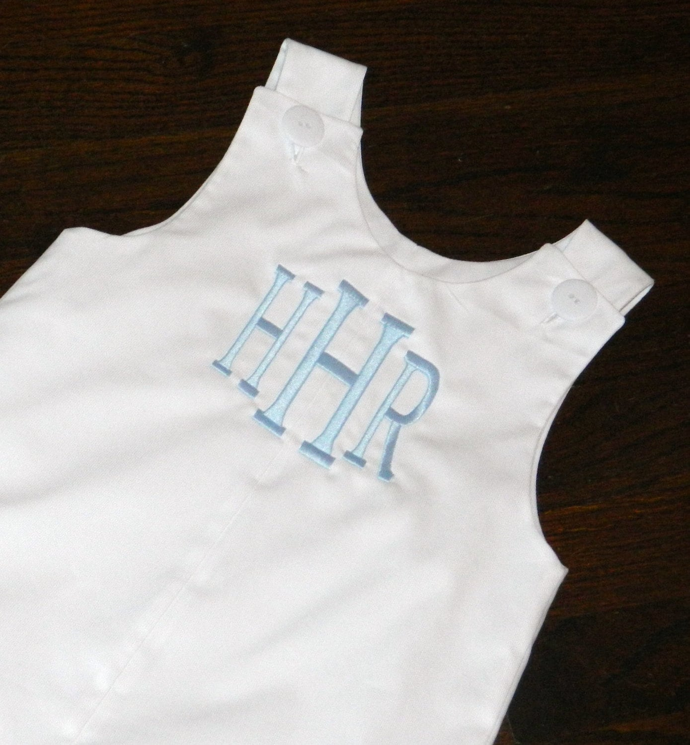 Baby Boy Monogrammed White Pique Jon Jon Baby Infant Toddler Boys