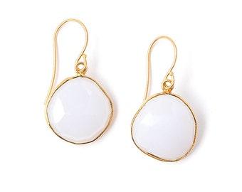 Dangle Earrings Drop Earrings Chalcedony Earrings Chalcedony Drop Earrings Simple Earrings Bridal Earrings Bridesmaid Jewelry Janna Conner