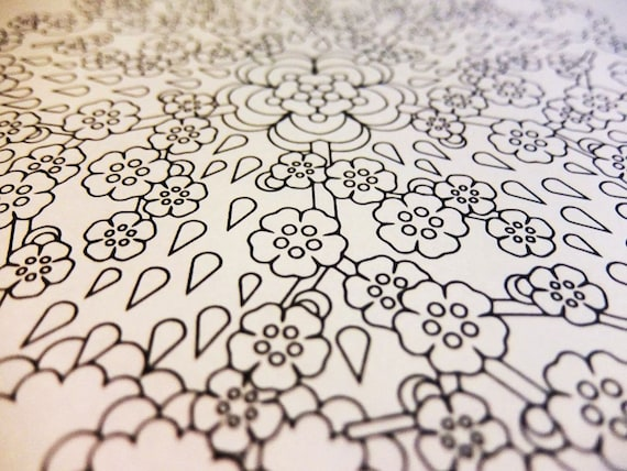 Mindfulness Coloring Pages Pdf : Mandala coloring page april showers printable spring