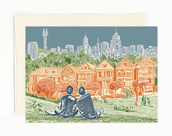 ON SALE!! -- San Francisco Park Views Notecard - full color - California - folded Greeting Card - Single Card or Set of 6
