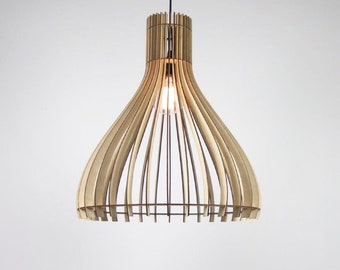 Wooden Kitchen Hanging Lamp   Wooden Lampshade   Wood Light   Wooden Lamps