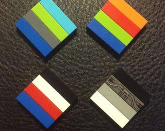 Lego Brooch - Tiled