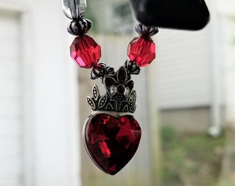 Queen of Heart Car Charm