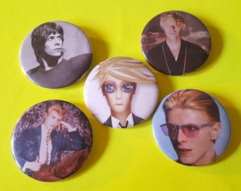 David Bowie Set of 5 Pins 1 of 2