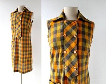 1960s Gingham Dress   Endless Summer   60s Dress   S M