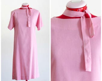 1960s pink shift dress