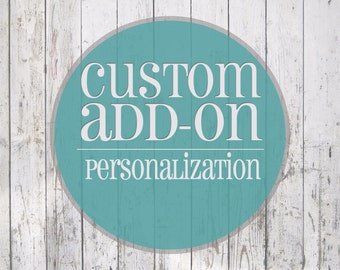 Add on for custom text on back of pillow