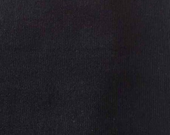 "SALE Black Featherwale Corduroy Fabric  --  58"" Wide"
