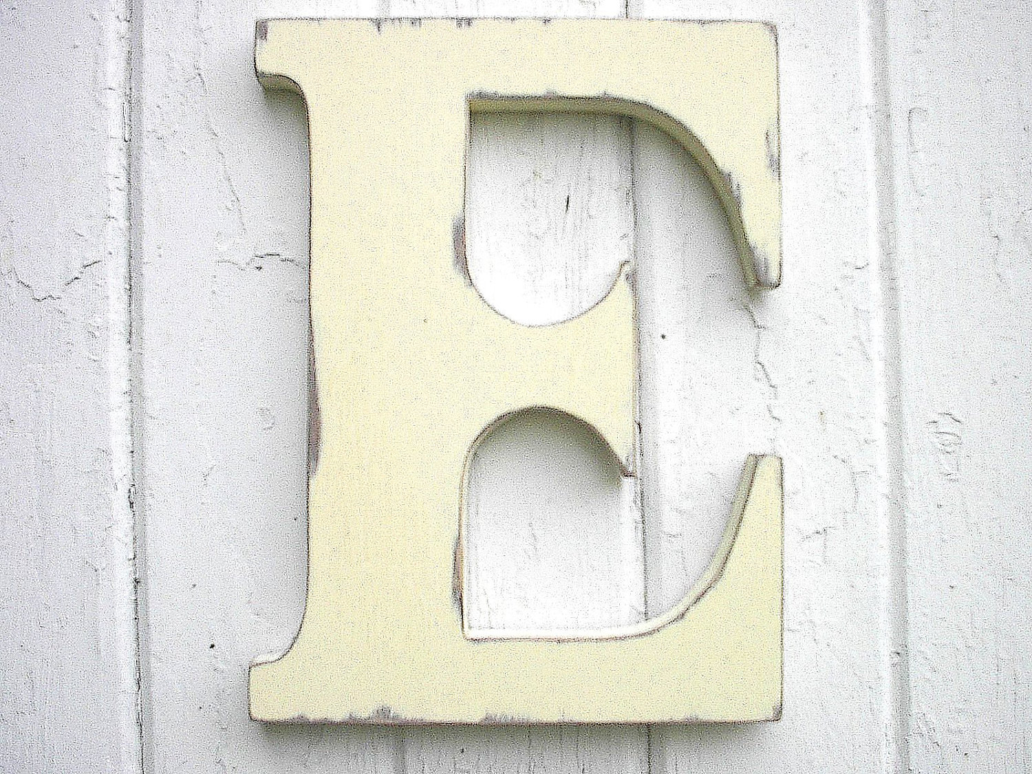 Letter E Wall Decor Wooden Letters Initial E 12 Inch Antique White Kids Wall Decor