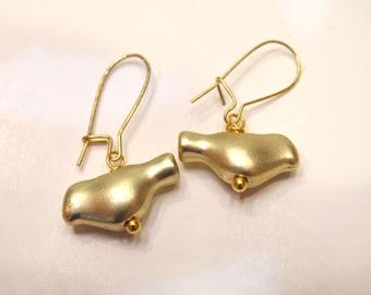 Little Gold Bird Earrings