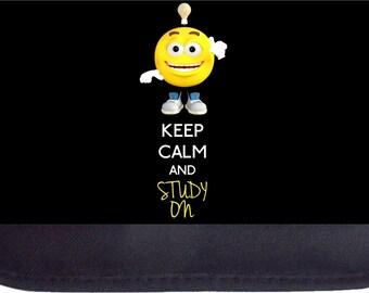Keep Calm and Study On Black Pencil Bag - Pencil Case