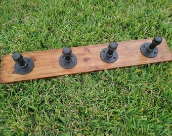 Wall mounted coat rack, coat hanger, rustic, industrial