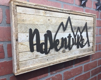 Adventure, Adventure Wall Decor, Rustic Adventure, Metal Adventure Decor, Adventure Decor, Cabin Decor, Lodge Decor, Rustic wall decor