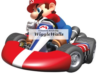 6 Inch Super Mario Wii Kart Removable Wall Decal Sticker Art Nintendo Home Decor - 6 1/4 by 5 inches