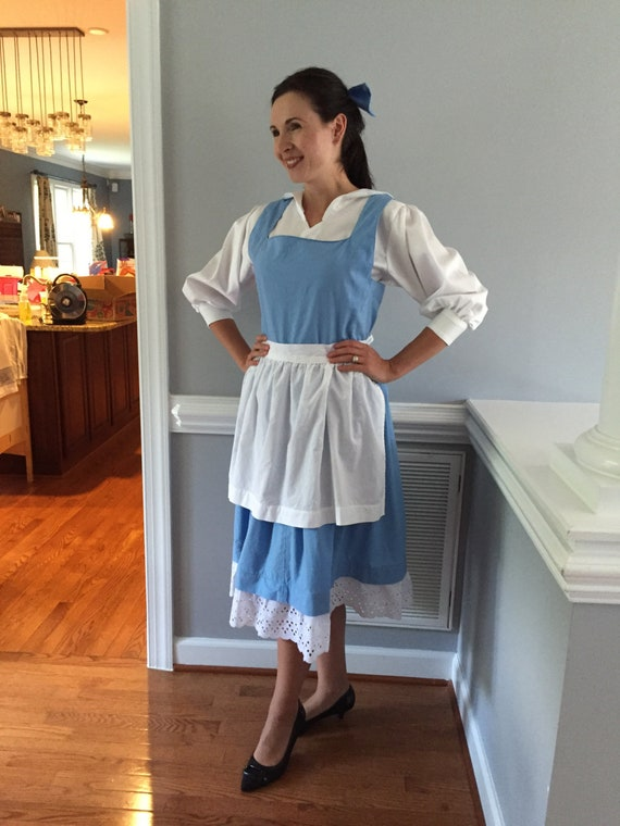 Belle Blue Dress Costume For Adult Woman Girls Toddler Or