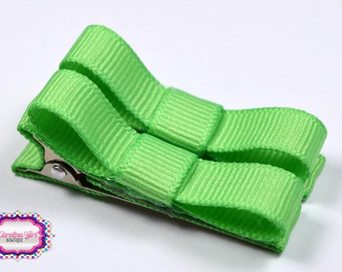 Mint Hair Clips Basic Tuxedo Clips Alligator Non Slip Barrettes for Babies Toddler Girl Set of 2