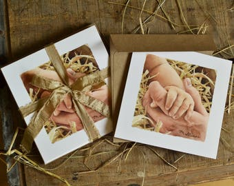 God With Us - Christmas Cards & Envelopes (Set of 8); Christian Christmas Cards; Religious Christmas Cards; Baby Jesus Cards