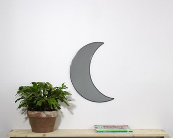 Moon Mirror Handmade Wall Mirror Half Moon Crescent Waxing Waning Miroir