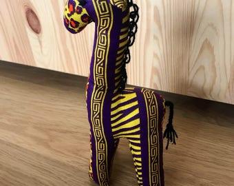 African fabric giraffe