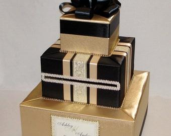 Gold and Black Wedding Card Box