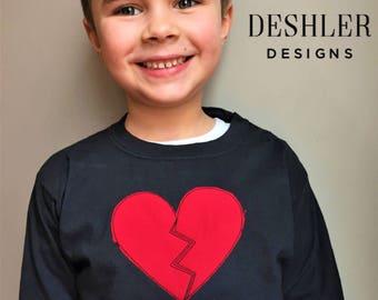 Heartbreaker tshirt, heartbreaker T shirt, heartbreaker tee, heartbreaker shirt, boys valentine shirt, boys valentines shirt, boy valentine