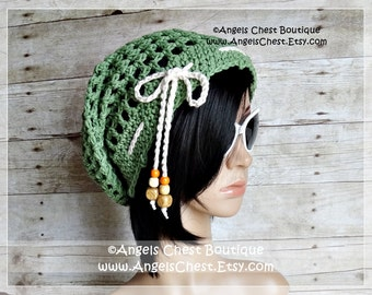 Crochet Sunny Slouchy Hat PDF Pattern Sizes Preteen to Adult Boutique Design - No. 63 by AngelsChest