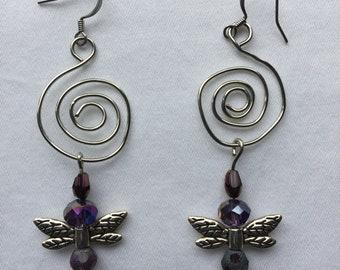 Spiral Amethyst Wings