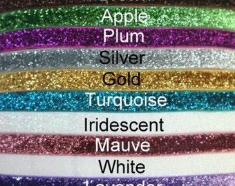 "5YD-Glitter Elastic-3/8""-You Choose Colors"