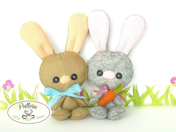 Baby Bunny PDF Pattern-Easter Bunny sewing pattern-Cute Rabbit plush ...