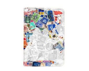 Stamp World Map Passport Holder/Passport Cover/Passport Wallet (PP009)
