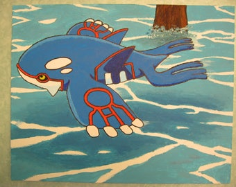 Free Shipping!! Kyogre Acrylic Painting Art Gift