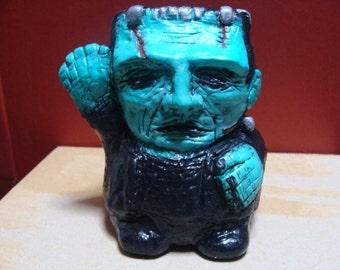 Franken-Bank (Cutie style Frankenstein's Monster Bank-Sculpture)