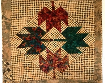 Fall Leaves Quilted Table Topper or Wall Hanging