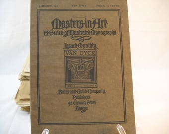 Antique Illustrated Monographs Magazines With Vintage Ad's Master In Art 1900-1905 Free Shipping