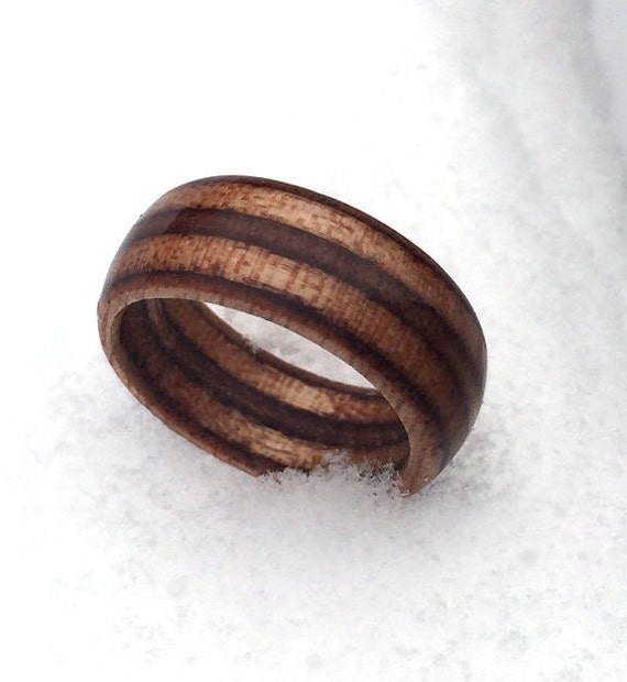 mens wood wedding ring marine ply ring engineered wood ring unique mens ring cheap engagement ring rustic ring unique wedding ring - Mens Wood Wedding Rings